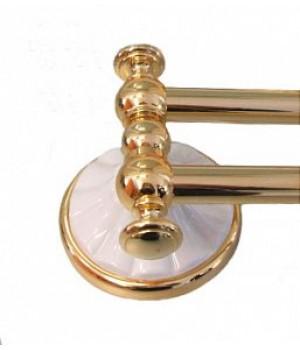 Держатель для полотенец 30см ALL.PE MARGHERITA золото-белый ORBI MG014
