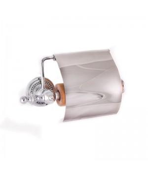 """Держатель туалетной бумаги с крышкой """"САMEYA"""" (Swarovski/латунь/chrome) H1402"""