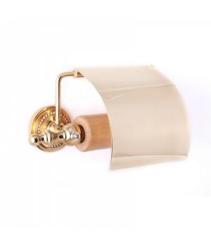 """Держатель туалетной бумаги с крышкой """"САMEYA"""" (Swarovski/латунь/gold) G1402"""
