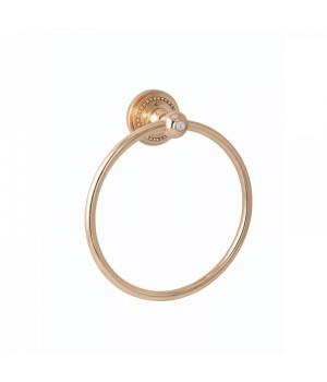 "Кольцо для полотенец ""САMEYA"" (Swarovski/латунь/gold) G1408"
