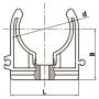Крепление для ПП труб FADO 40 PPK04
