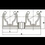 Двойное крепление для ПП труб FADO 25 PPK22
