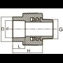 ПП Муфта с наружной резьбой FADO 20*3/4 PPM22