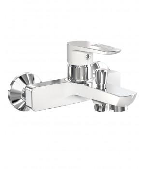 Смеситель для ванны IMPRESE BRECLAV хром/белый 10245W