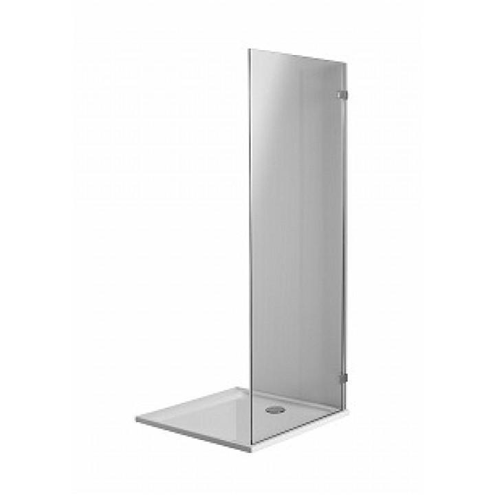 Боковая стенка 100 см NEXT, закаленное стекло, хром/серебряный блеск, Reflex. Для комплектации с распашными дверьми NEXT HDSF