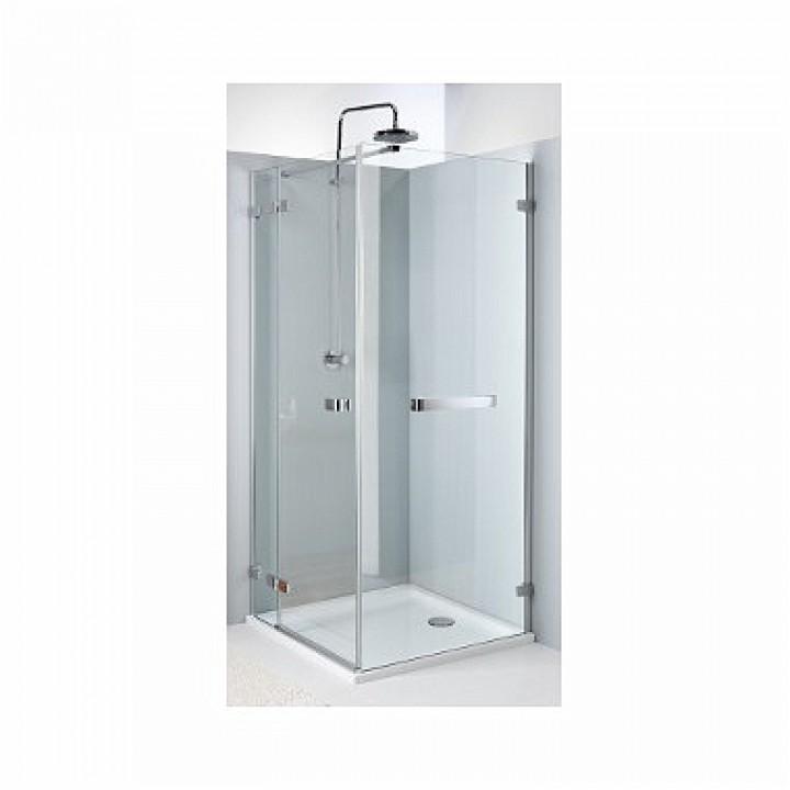 Боковая стенка NEXT 80 см с релингом, закаленное стекло, хром/серебряный блеск, Reflex. Для комплектации с распашными дверьми NEXT HDSF