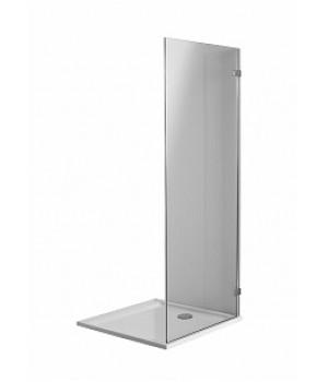 Боковая стенка 90 см NEXT, закаленное стекло, хром/серебряный блеск, Reflex. Для комплектации с распашными дверьми NEXT HDSF