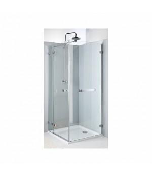 Боковая стенка NEXT 90 см с релингом, закаленное стекло, хром/серебряный блеск, Reflex. Для комплектации с распашными дверьми NEXT HDSF