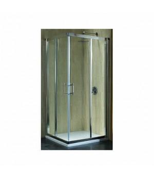 Кабина квадратная 80 x 80 см GEO 6, двери раздвижные, закаленное стекло, серебряный блеск, часть  2/2