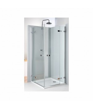 Кабина квадратная 80 x 80 см NEXT, двери распашные, закаленное стекло, хром/серебряный блеск, Reflex