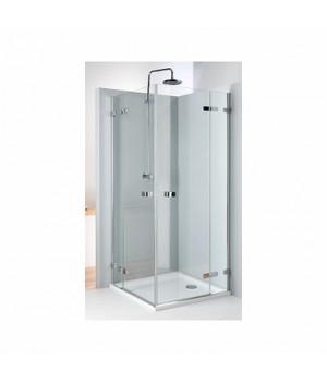 Кабина квадратная 90 x 90 см NEXT, двери распашные, закаленное стекло, хром/серебряный блеск, Reflex
