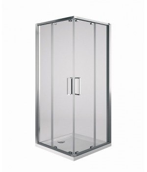 Кабина квадратная ULTRA, двери раздвижнын, 80 см