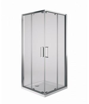 Кабина квадратная ULTRA, двери раздвижнын, 90 см