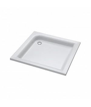 Поддон квадратный STANDARD PLUS 80 x 80 см, глубина 9 см, выпуск 52 мм