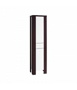 Шкафчик боковой RUNA, высокий, венге, белый глянец