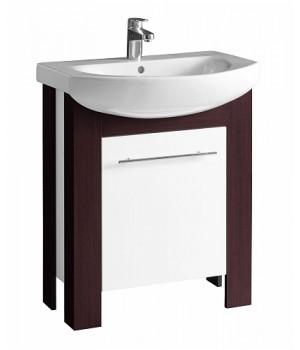 Шкафчик под мебельный умывальник RUNA 70 см, венге/белый глянец