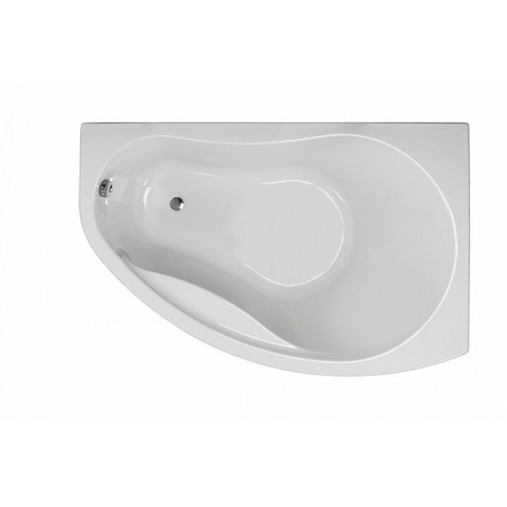 Ванна акриловая асимметрична PROMISE 150х100 см, права, в комплекте с ножками и элементами крепления, белая