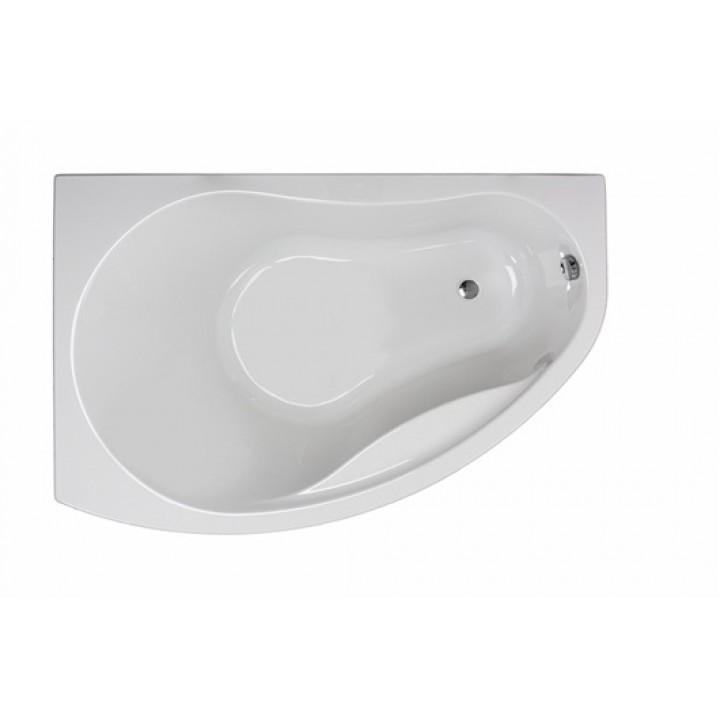 Ванна акриловая асимметрична PROMISE 150х100 см, левая, в комплекте с ножками и элементами крепления, белая