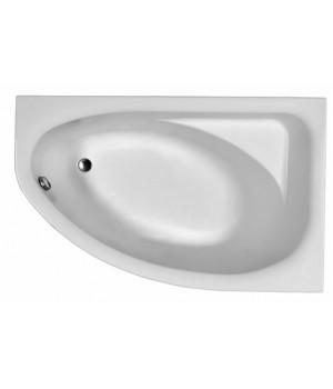 Ванна акриловая асимметрична SPRING 160х100 см, права, в комплекте с ножками и элементами крепления, белая