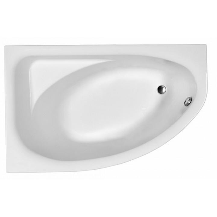 Ванна акриловая асимметрична SPRING 160х100 см, левая, в комплекте с ножками и элементами крепления, белая