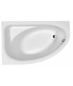 Ванна акриловая асимметрична SPRING 170х100 см, левая, в комплекте с ножками и элементами крепления, белая
