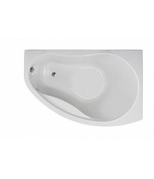 Ванна акриловая асимметрична PROMISE 170х110 см, права, в комплекте с ножками и элементами крепления, белая