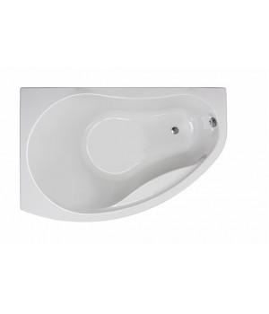 Ванна акриловая асимметрична PROMISE 170х110 см, левая, в комплекте с ножками и элементами крепления, белая