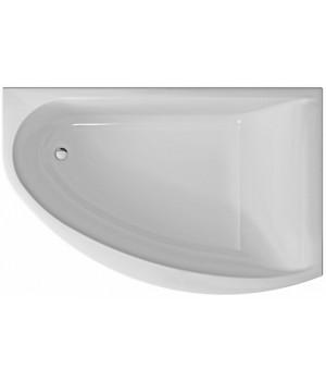 Ванна акриловая асимметрична MIRRA 170х110 см, права, в комплекте с ножками и элементами крепления, белая