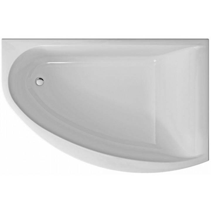 Ванна акриловая асимметрична MIRRA 170х110 см, левая, в комплекте с ножками и элементами крепления, белая