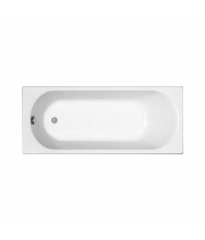 Ванна акриловая прямоугольная OPAL Plus 160х70 см в комплекте с ножками и элементами крепления, белая