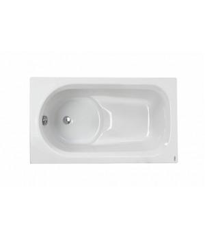 Ванна акриловая прямоугольная DIUNA 120х70 см в комплекте с ножками и элементами крепления, белая