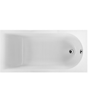 Ванна акриловая прямоугольная MIRRA 140х70 см в комплекте с ножками и элементами крепления, белая