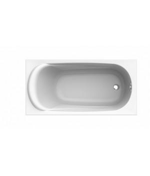 Ванна акриловая прямоугольная SAGA 150х75 см в комплекте с ножками и элементами крепления, белая