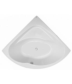 Ванна акриловая угловая INSPIRATION 140х140 см в комплекте с ножками и элементами крепления, белая
