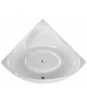 Ванна акриловая угловая RELAX 150х150 см в комплекте с ножками и элементами крепления, белая