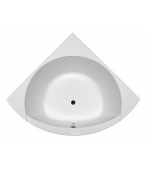 Ванна акриловая угловая MAGNUM 155х155 см в комплекте с ножками и элементами крепления, белая