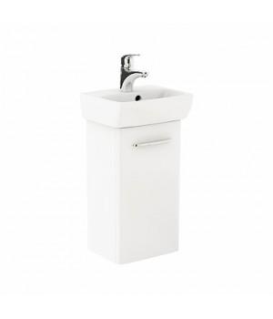 Комплект: умывальник 36 см прямоугольный + шкафчик для умывальника белый глянец NOVA PRO