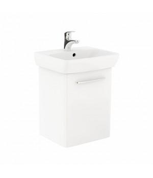 Комплект: умывальник 50cm  прямоугольный + шкафчик для умывальника белый глянец NOVA PRO