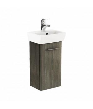 Комплект: умывальник 36cm  прямоугольный + шкафчик для умывальника серый ясень NOVA PRO