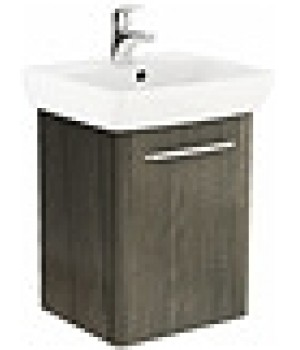 Комплект: умывальник 50cm  прямоугольный + шкафчик для умывальника серый ясень NOVA PRO