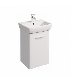 Комплект NOVA PRO: умывальник 45 cм + шкафчик белый глянец