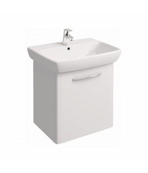 Комплект: NOVA PRO умывальник 65 cм  прямоугольный + шкафчик белый глянец