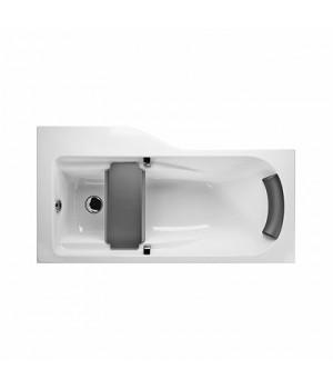 Асимметричная ванна COMFORT Plus 170 x 75 см, правая с ручками, подголовником и сиденьем