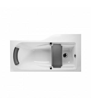 Асимметричная ванна COMFORT Plus 170 x 75 см, левая с ручками, подголовником и сиденьем