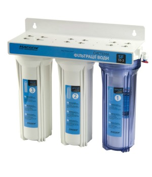 Система фильтрации воды трехступенчатая с краном SF10-3