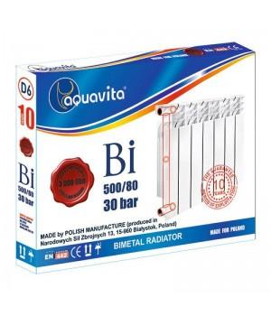 Секция радиатора биметаллического AQUAVITA 500/80 D10 30 бар