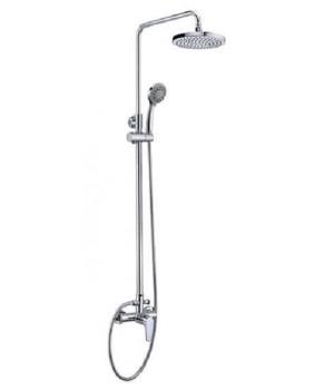 """Душевая система """"Смарт-Инлайн"""" SM1508AA с душевым смесителем, комплект: штанга, ручн.перек., 3-функц. душ. лейка"""