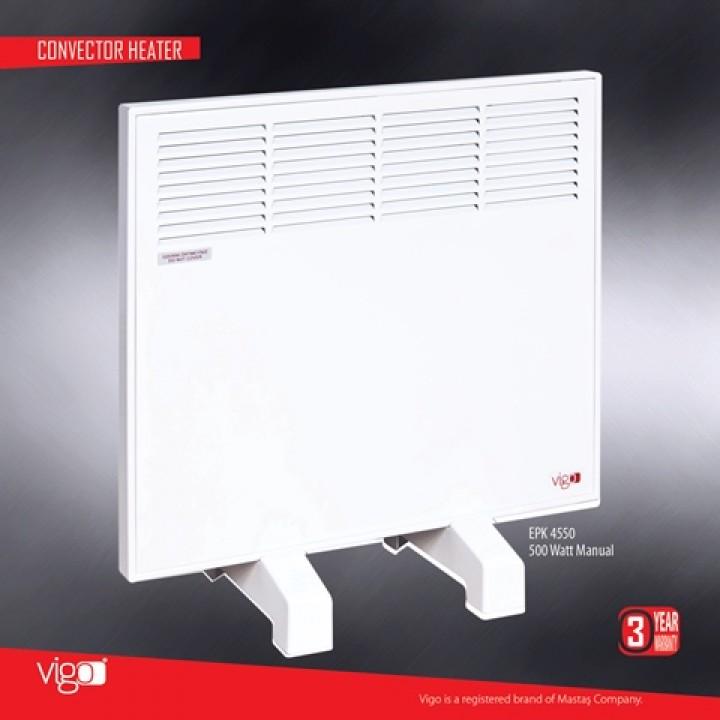 Электрический конвектор MASTAS Vigo 500 W с механическим термостатом