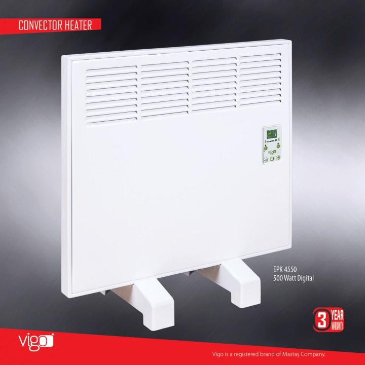 Электрический конвектор MASTAS Vigo 500 W с электронным термостатом