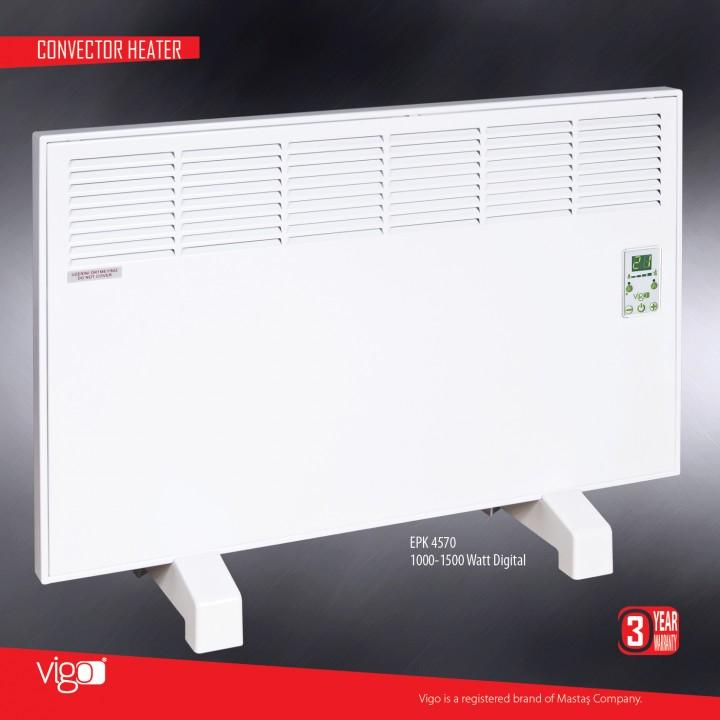Электрический конвектор MASTAS Vigo 1500 W с электронным термостатом